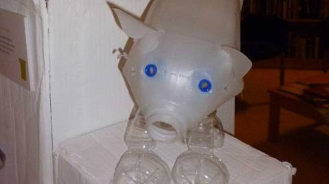 Plastic Bottle Recycled Pig