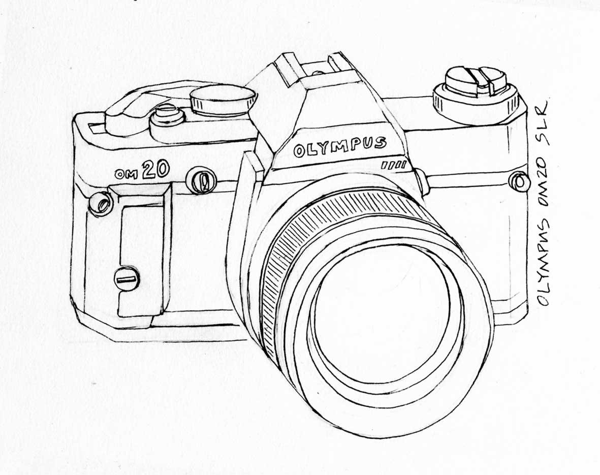 Line Art Camera : Line drawing being a freelance artist