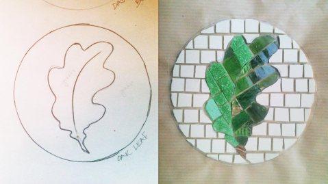 Mosaics Oak Leaf