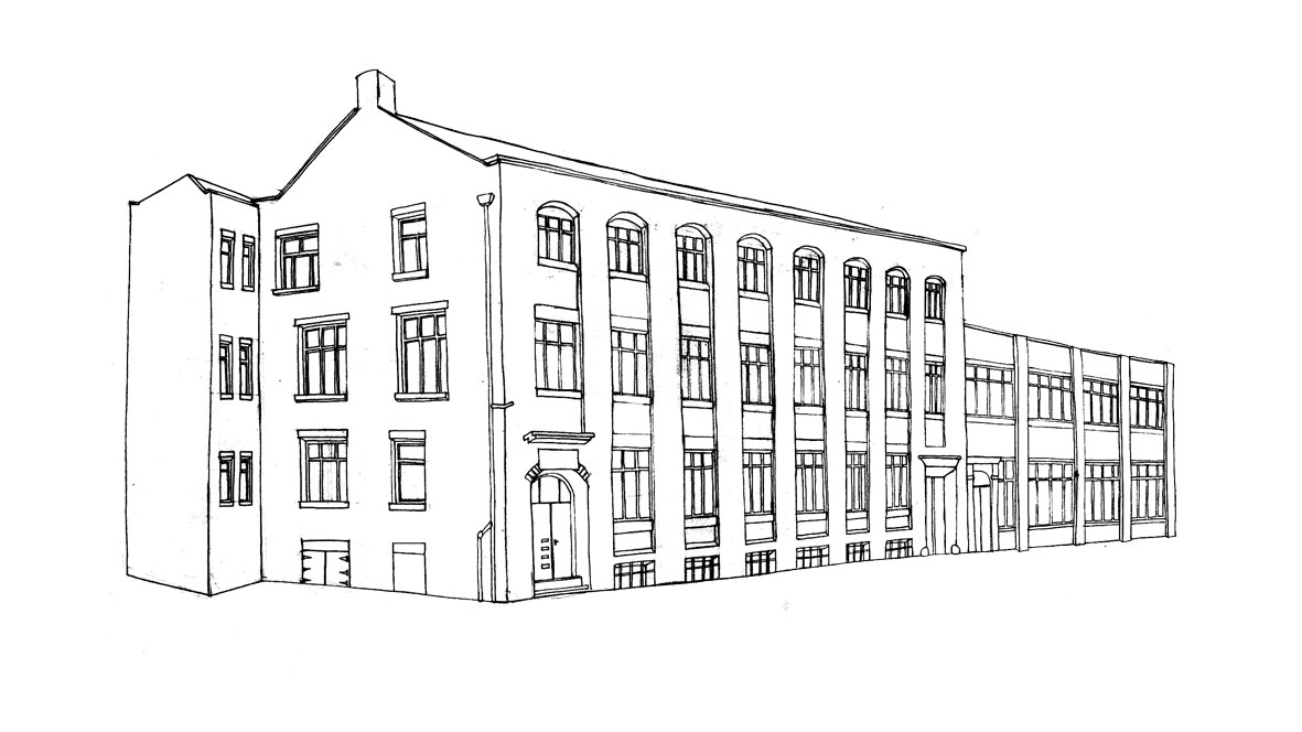 Simple Building Drawing Hot Bed Press Being A Freelance Artist